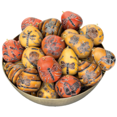 Lucuma Mini Gourd Nature Mix Ornament