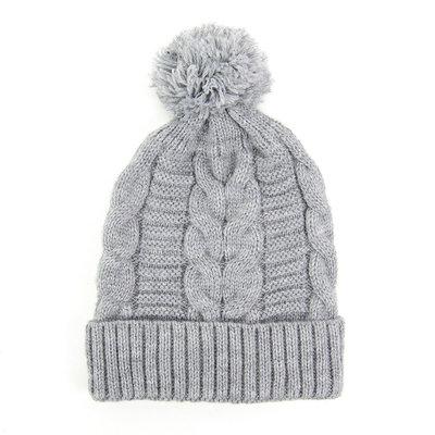 Minga Imports Harlow Knit Hat Light Grey