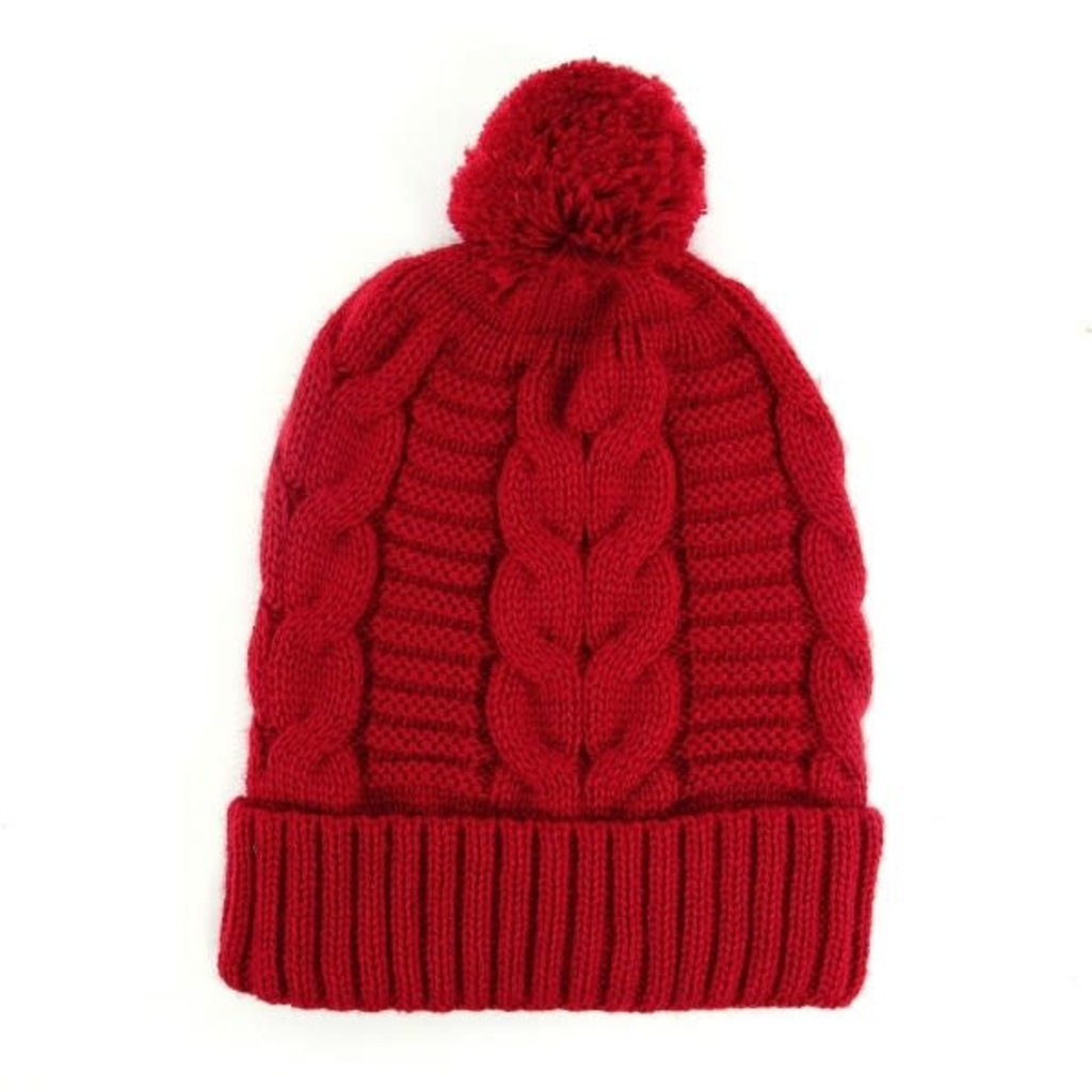 Minga Imports Harlow Knit Hat Red