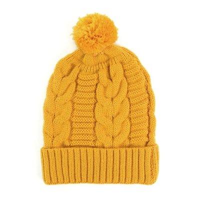 Minga Imports Harlow Knit Hat Mustard