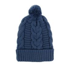 Minga Imports Harlow Knit Hat Steel Blue