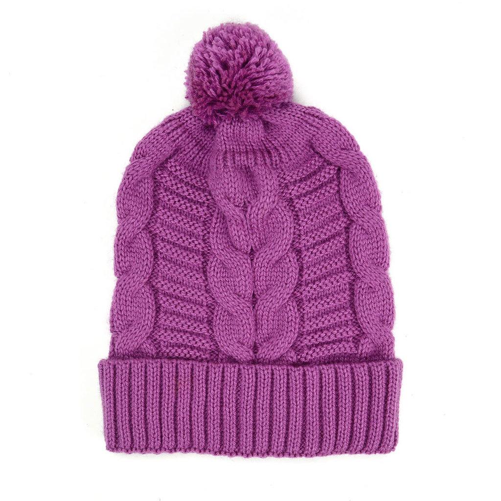 Minga Imports Harlow Knit Hat Purple