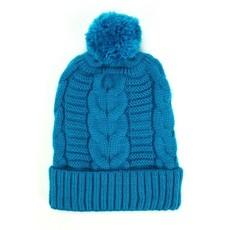 Minga Imports Harlow Knit Hat Turquoise