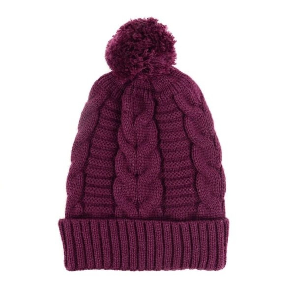 Minga Imports Harlow Knit Hat Wine