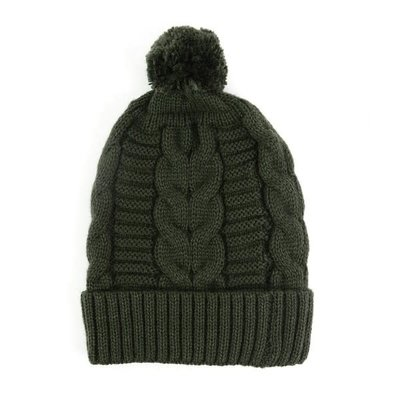 Minga Imports Harlow Knit Hat Forest