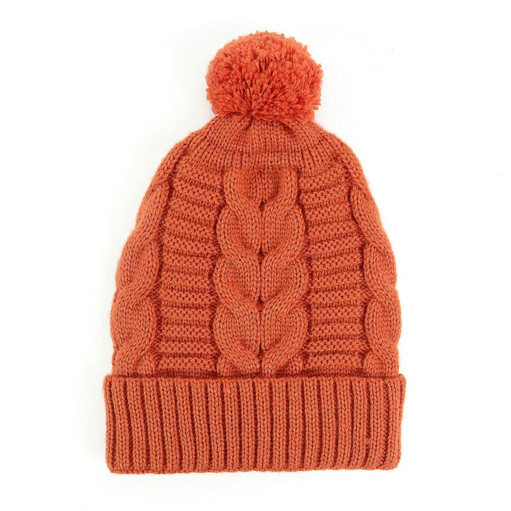 Minga Imports Harlow Knit Hat Orange