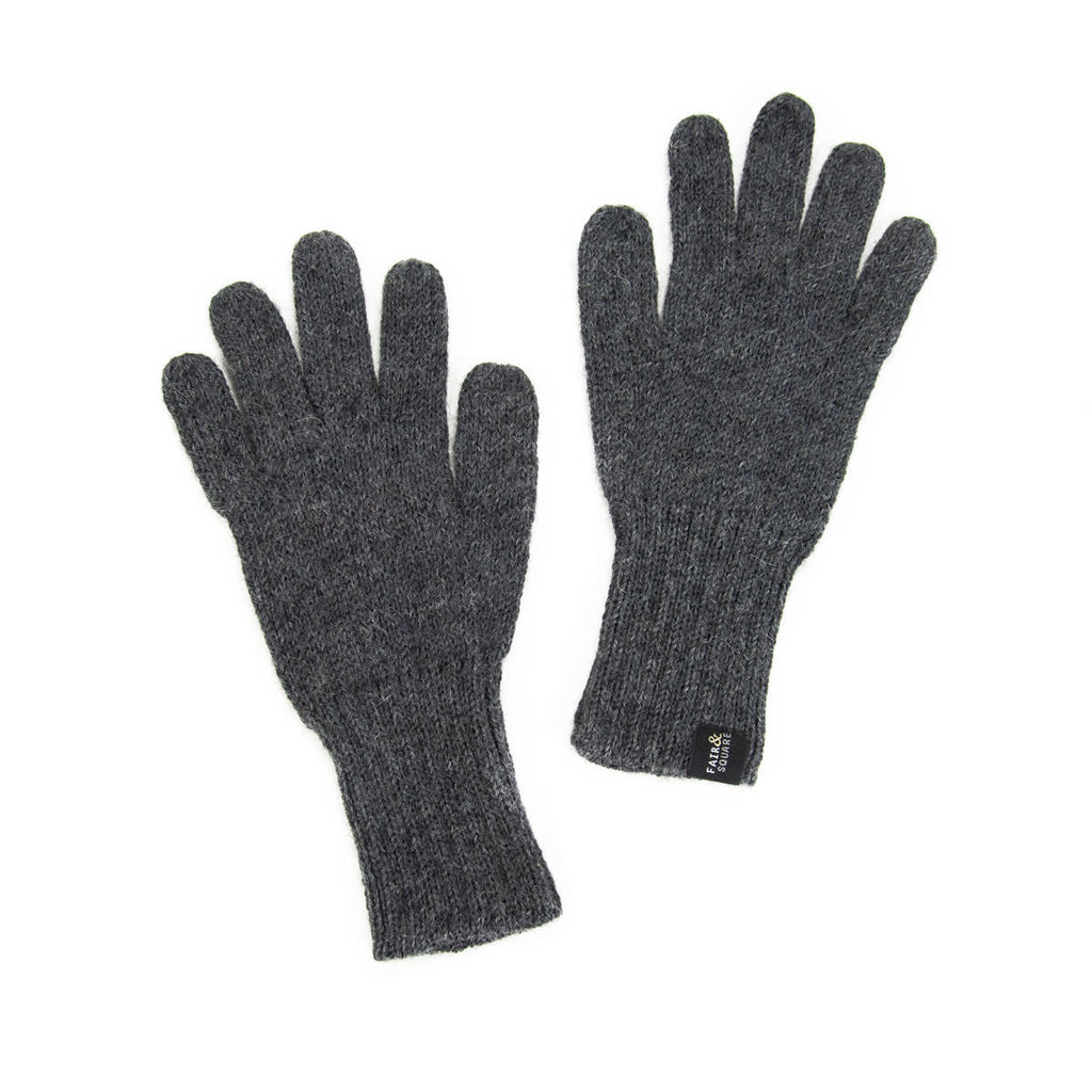 Minga Imports Gelid Alpaca Blend Gloves Dark Grey