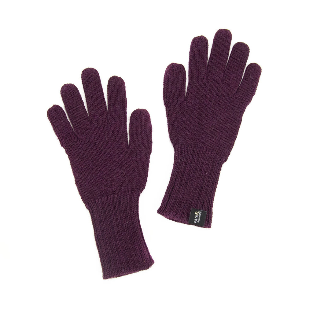 Minga Imports Gelid Alpaca Blend Gloves Wine