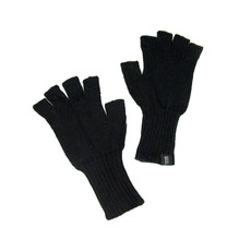Minga Imports Gelid Alpaca Blend Fingerless Gloves Black