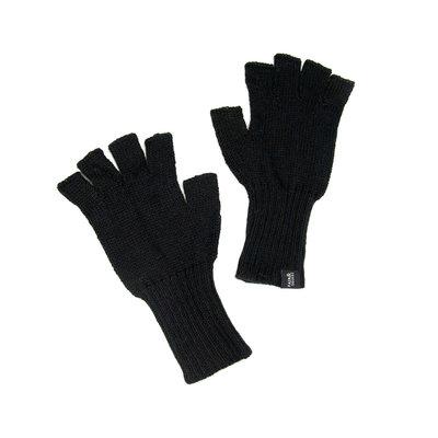 Minga Imports Gelid Alpaca Blend Fingerless Gloves Black