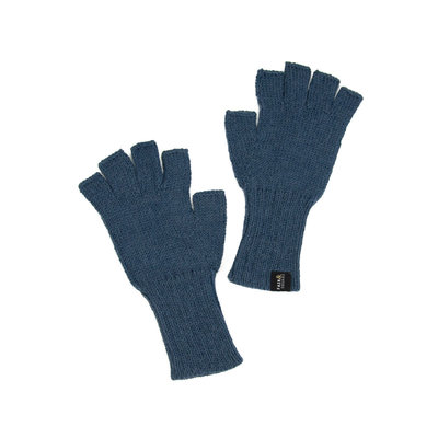 Minga Imports Gelid Alpaca Blend Fingerless Gloves Dark Blue