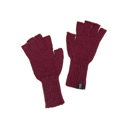 Minga Imports Gelid Alpaca Blend Fingerless Gloves Burgundy