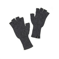 Minga Imports gelid alpaca fingerless gloves dark grey