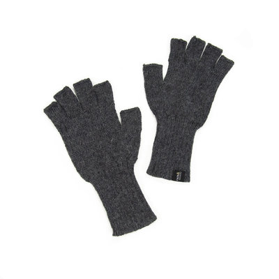 Minga Imports Gelid Alpaca Blend Fingerless Gloves Dark Grey