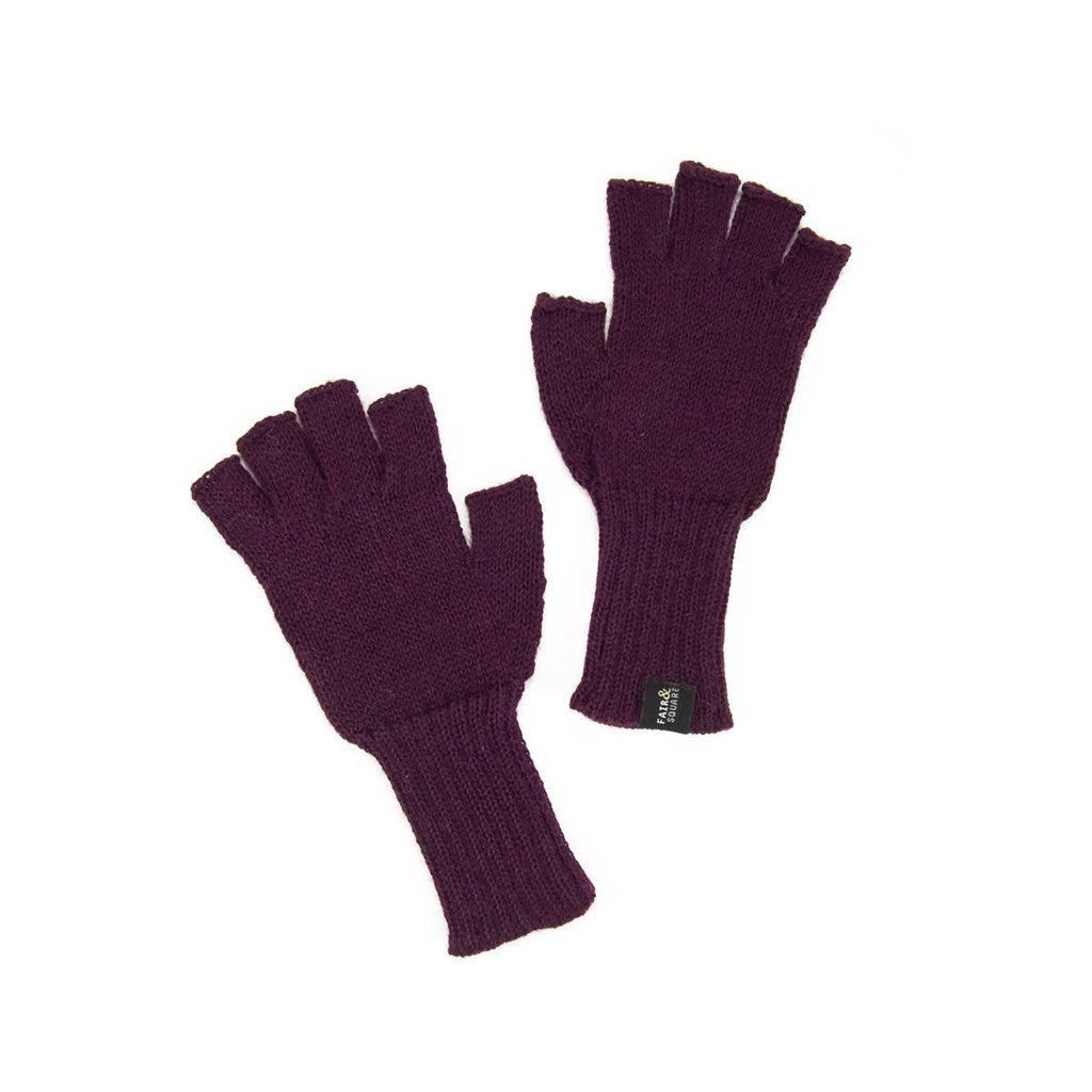 Minga Imports Gelid Alpaca Blend Fingerless Gloves Wine