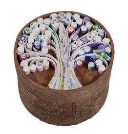 Ten Thousand Villages Cinnamon Bark & Paper Tree Box