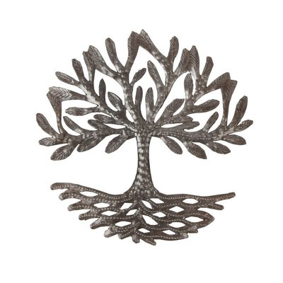 Ten Thousand Villages Shady Haven Tree Metal Drum Art