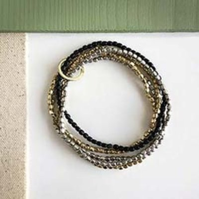 World Finds Embraced Metallics Bracelet