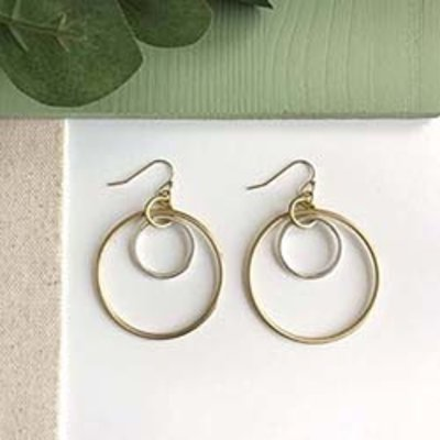World Finds Borealis Hoop Earrings
