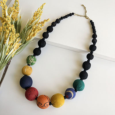 World Finds Galaxy Graduated Kantha Necklace