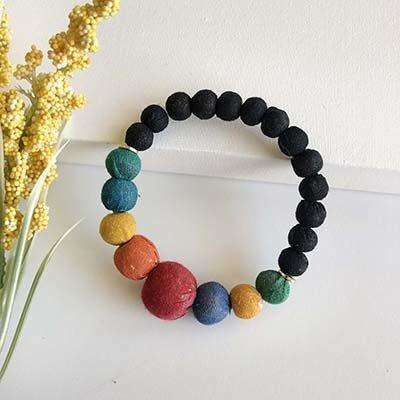 World Finds Galaxy Graduated Kantha Bracelets