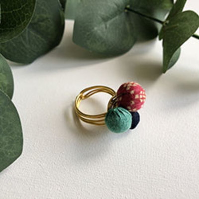 World Finds Kantha Trio Ring