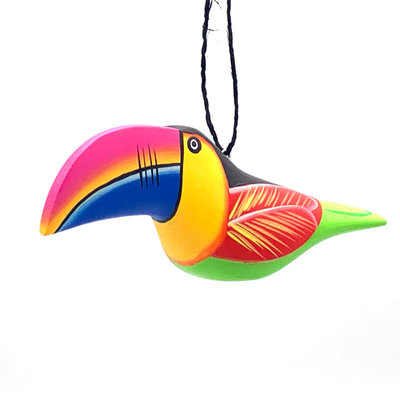 Women of the Cloud Forest Toucan Balsa Wood Ornament
