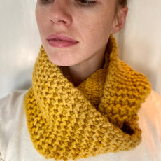 Creation Hive Jane Kenyan Merino Wool Knit Infinity Scarf Gold