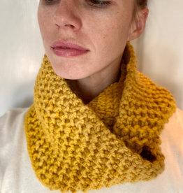 Creation Hive Jane Kenyan Merino Wool Knit Infinity Scarf Gold