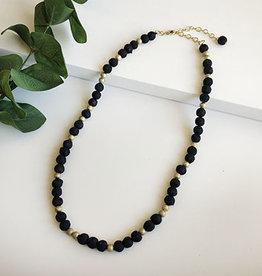 World Finds Starry Night Kantha Single Strand Necklace