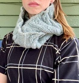 Creation Hive Anne Kenyan Merino Wool Knit Infinity Scarf Gray