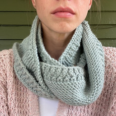 Creation Hive Prax Kenyan Merino Wool Knit Infinity Scarf Gray