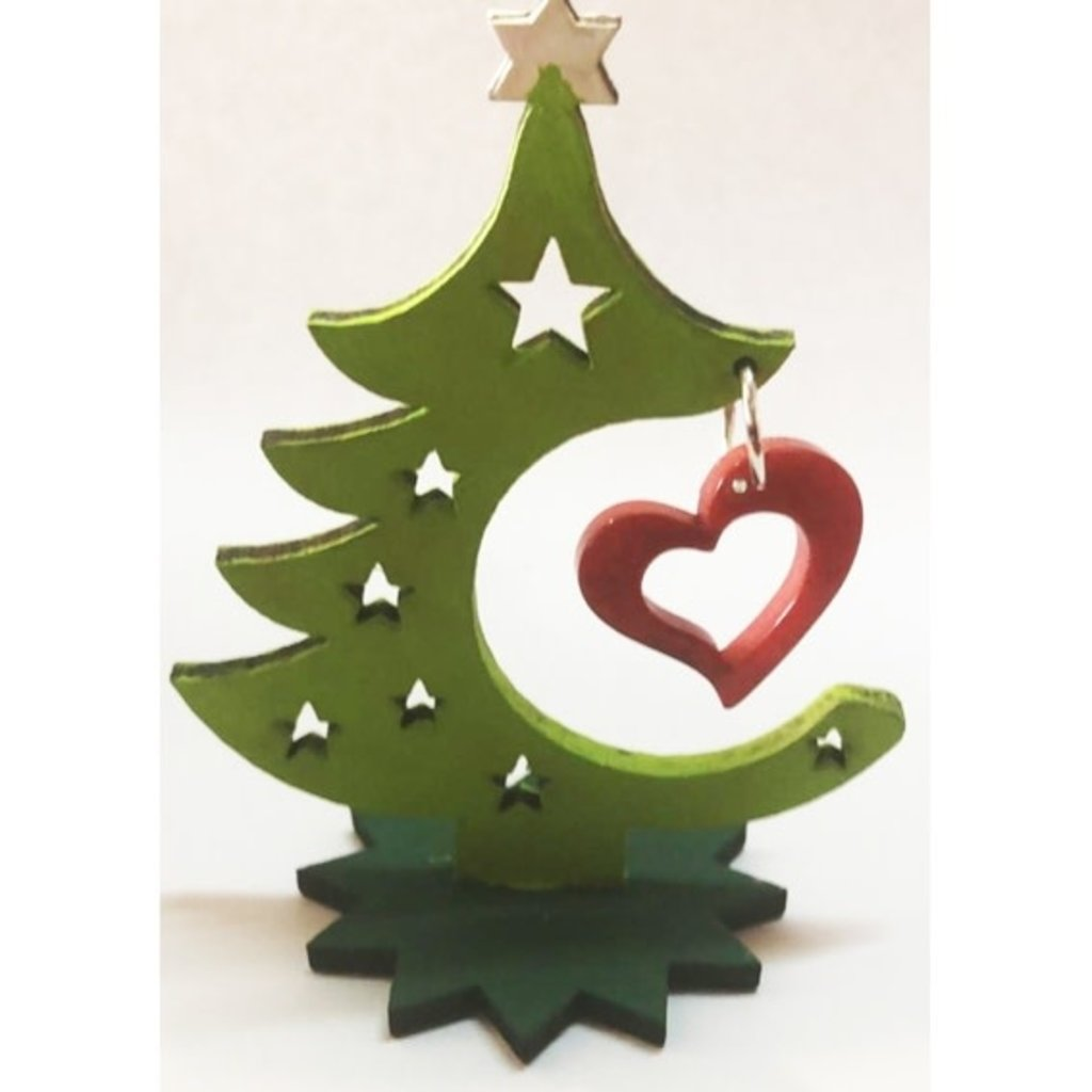 PamPeana Tagua Holiday Tree: Heart