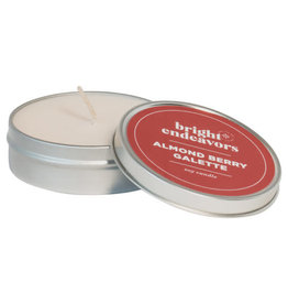 Bright Endeavors Almond Berry Galette 4oz Tin Candle