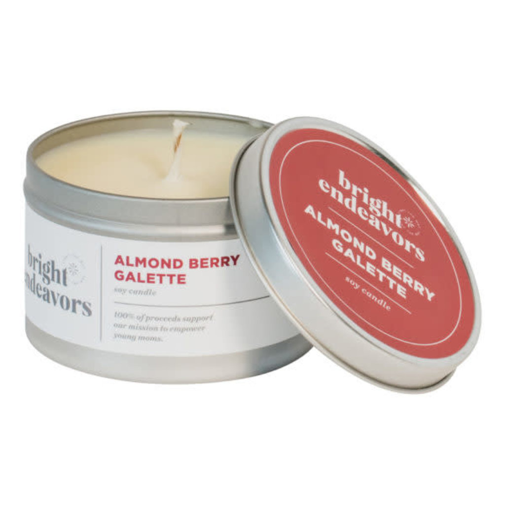 Bright Endeavors Almond Berry Galette 8oz Tin Candle