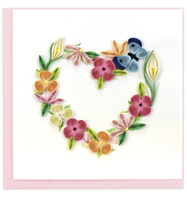 Quilling Card Floral Heart Wreath Quilling Card