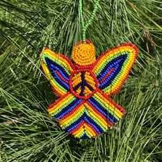Creation Hive Beaded Peace Angel Ornament