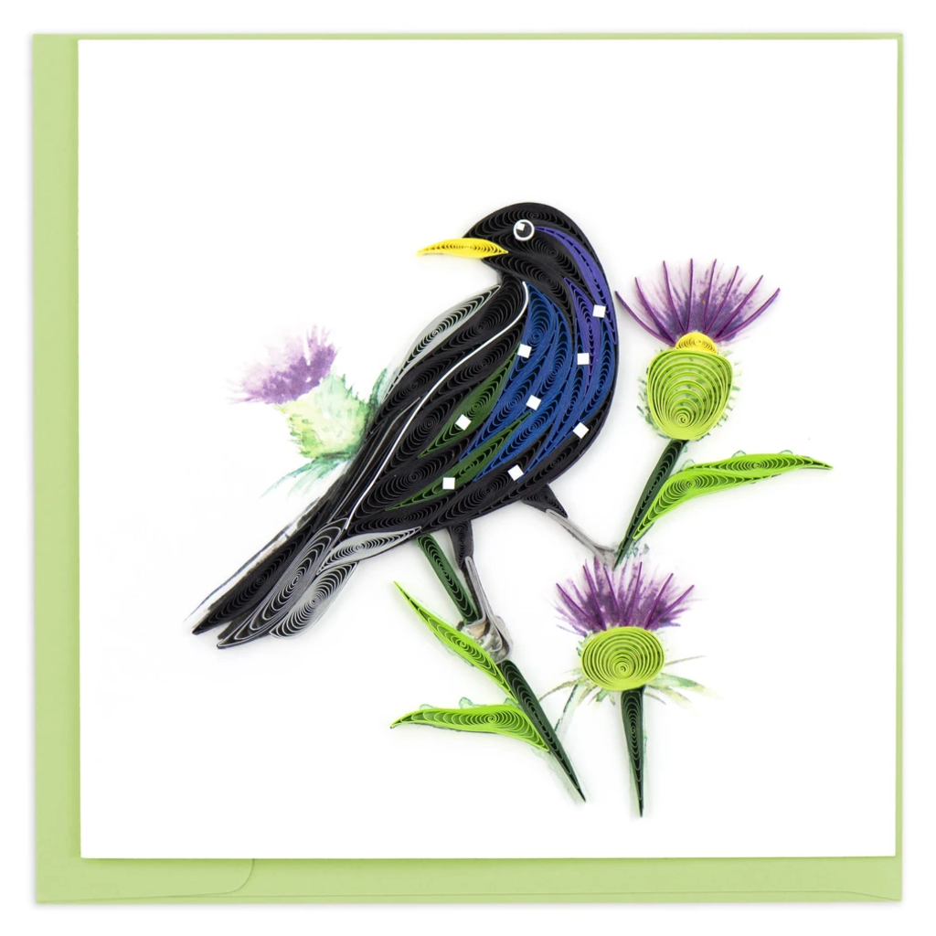 Quilling Card Starling Bird Quilled Card