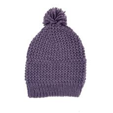 Creation Hive Jane Kenyan Merino Knit Wool Hat Purple