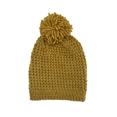 Creation Hive Jane Kenyan Merino Knit Wool Hat Gold