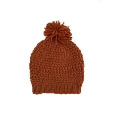 Creation Hive Jane Kenyan Merino Knit Wool Hat Pumpkin