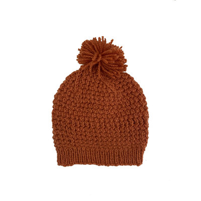 Creation Hive Jane Kenyan Merino Knit Wool Hat Pumpkin