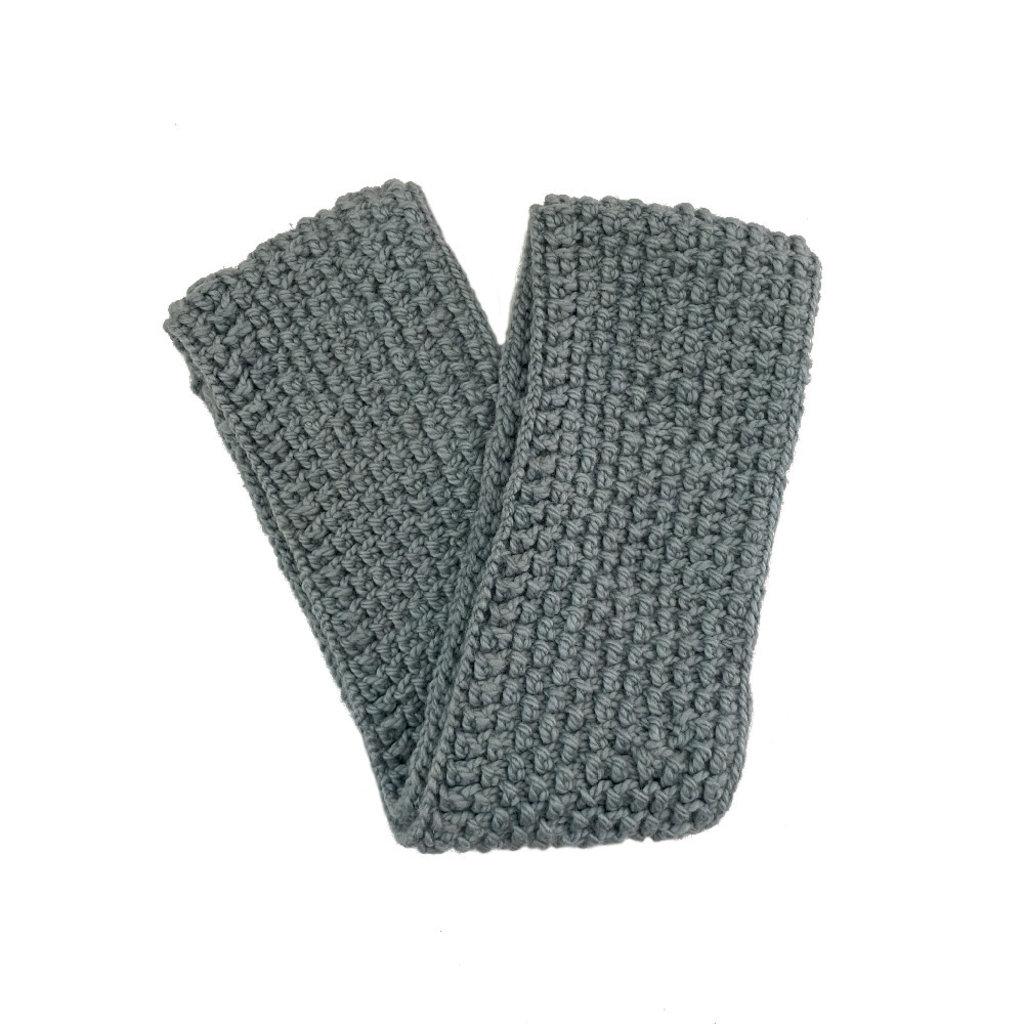 Creation Hive Jane Kenyan Merino Wool Knit Infinity Scarf Gray