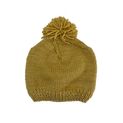 Creation Hive Prax Kenyan Merino Knit Wool Hat Gold