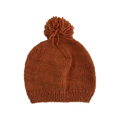 Creation Hive Prax Kenyan Merino Knit Wool Hat Pumpkin