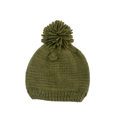 Creation Hive Prax Kenyan Merino Knit Wool Hat Olive