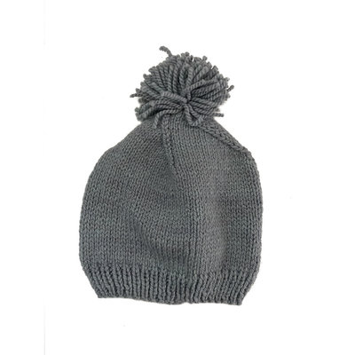 Creation Hive Prax Kenyan Merino Knit Wool Hat Gray