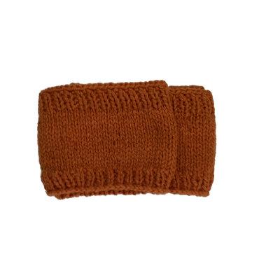Creation Hive Prax Kenyan Merino Wool Knit Infinity Scarf Pumpkin