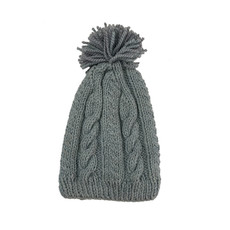 Creation Hive Anne Kenyan Merino Knit Wool Hat Gray