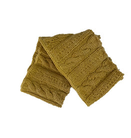 Creation Hive Anne Kenyan Merino Wool Knit Infinity Scarf Gold